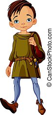 Medieval Boy - Illustration of cute medieval boy