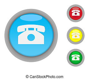 Telephone contact buttons