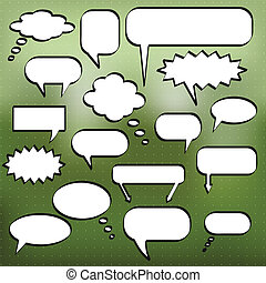 Chat Bubbles - Image of various chat bubbles on a colorful...