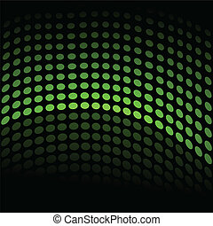 Green Background - Image of a green half wave tone...