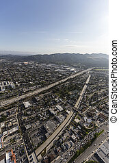 Ventura Freeway Glendale California Aerial
