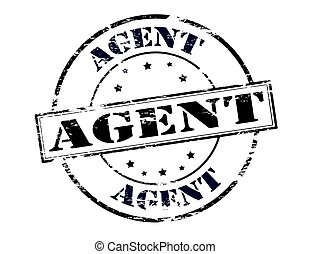 Agent - Stamp with word agent inside, vector illustration
