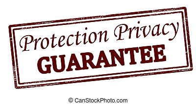 Protection privacy guarantee - Stamp with text protection...