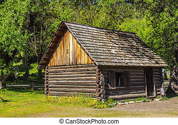 Vintage Cabin In Gold Mining Town