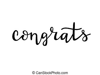 Congrats - hand drawn lettering vector