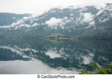 Norway - ideal fjord reflection in clear water