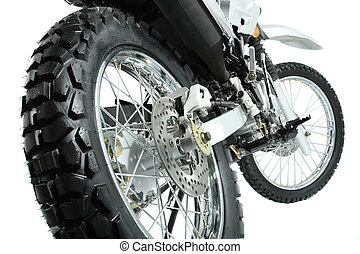 motorcycle - The rear view on a wheel of a sports motorcycle...