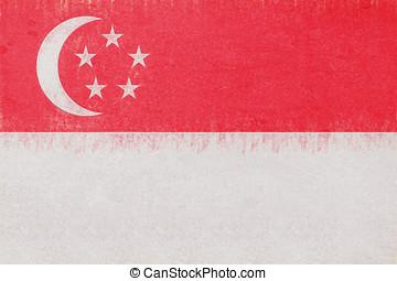 Flag of Singapore Grunge.