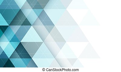 Abstract vector triangular symmetrical background. -...