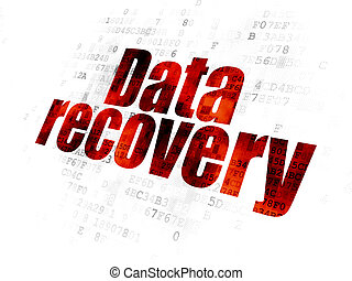 Information concept: Data Recovery on Digital background -...