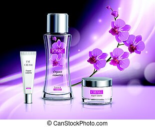Cosmetics Products Realistic Composition Poster - Organic...