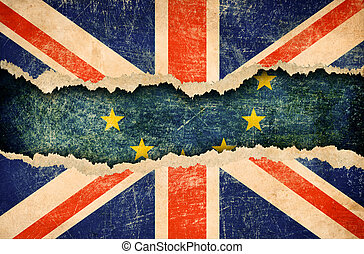 Great Britain withdrawal from European union brexit 3d...