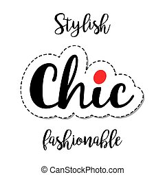 Fashion patch element chic lettering