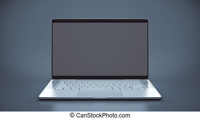 Camera zooms to Laptop (notebook) screen.