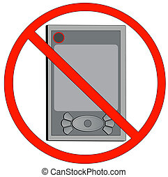 turn off electronic devices - pda not allowed or turn off...