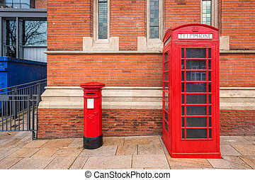 Shakespeare birthplace - Red phone booth at Shakespeare...