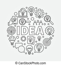 Idea round illustration