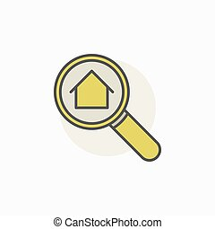 House in magnifying glass icon