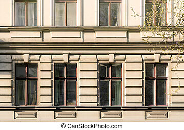 facade of a beautiful old building in Berlin Kreuzberg