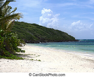 Flamenco Beach Culebra - Panorama of the gorgeous white sand...