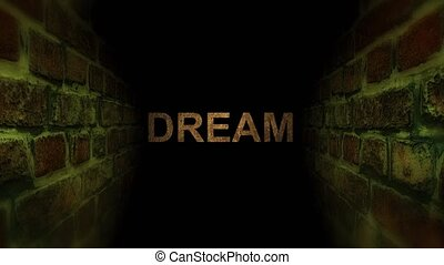 Go to dream in a maze. Search for your dream