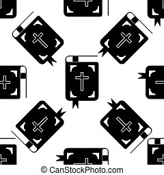Bible icon pattern on white background. Adobe illustrator