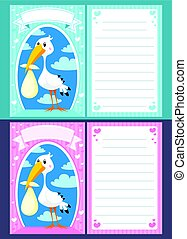 Baby Shower Greeting Invitation Cards