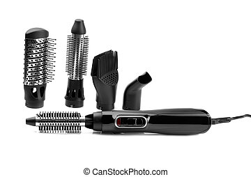 Hairdryer styler brush for hair drying and styling