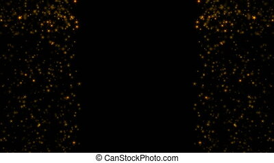golden glittering particle background. Seamless loop