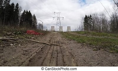 Thermal power plant. Road to the power plant - Road to the...