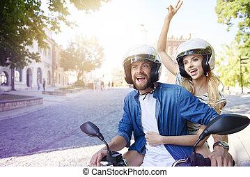 身に着けていること, ヘルメット, 恋人, モーターバイク, 乗馬