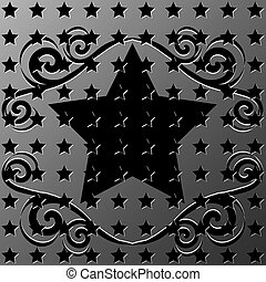 star with ornament