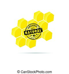 honey natural healty in yellow color illustration