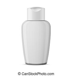 Clear plastic cosmetic bottle template. - Oval clear plastic...