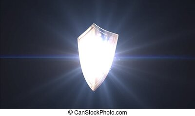 The concept of protection. Shield - Shield. The concept of...