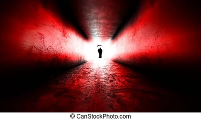 Bright light at the end of the tunnel. Death at the end of...