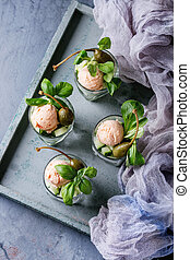 Verrines with salmon pate