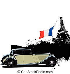 Cover for brochure with Paris and rarity closed roof...