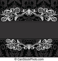 Vintage black frame - Vintage frame with swirl on a black...