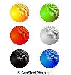 Set of Colorful Spheres Isolated