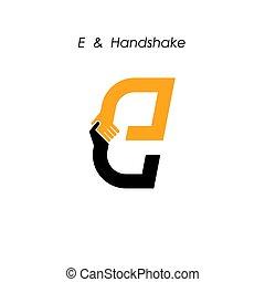 Creative E- letter icon abstract logo design vector...