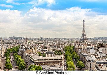 Champs elysees Avenue view, Paris, France - View on Paris...