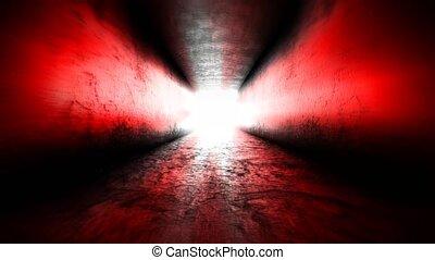 Dark corridor. Flying in a dark hallway - Flying in a dark...