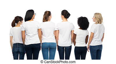 international group of women from back