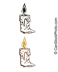 simple linear illustration of candle