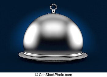 Silver catering dome