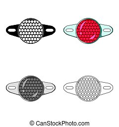 Reflector for cyclists. Icon for better visibility on the...