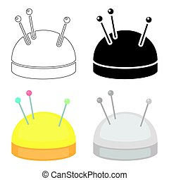 Needles and pillow icon of vector illustration for web and mobile