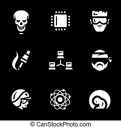 Vector Set of Artificial Intelligence Icons. - Skeleton,...