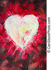 heart shape painting